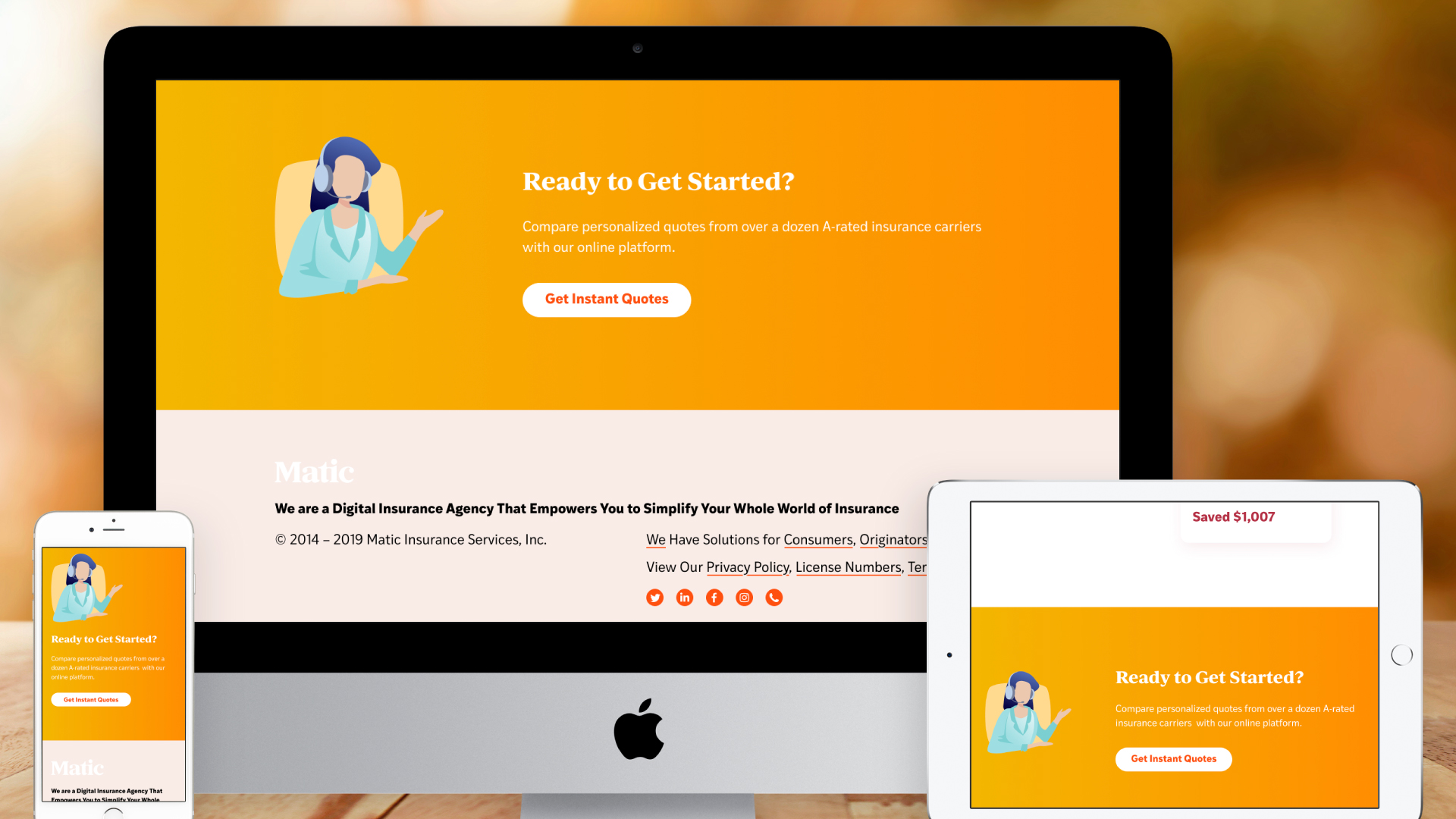 Responsive Website – For Consumers (Footer)