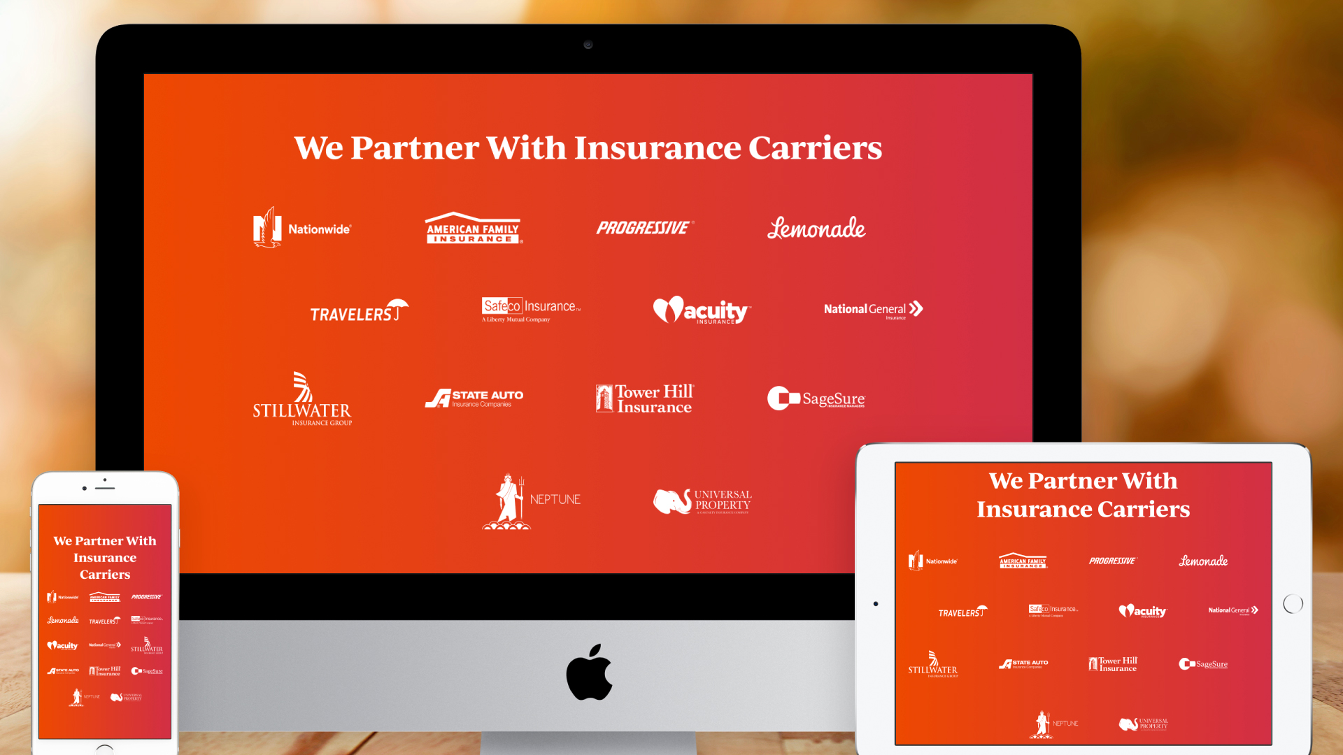 Responsive Website – For Consumers (We Partner With Insurance Carriers)
