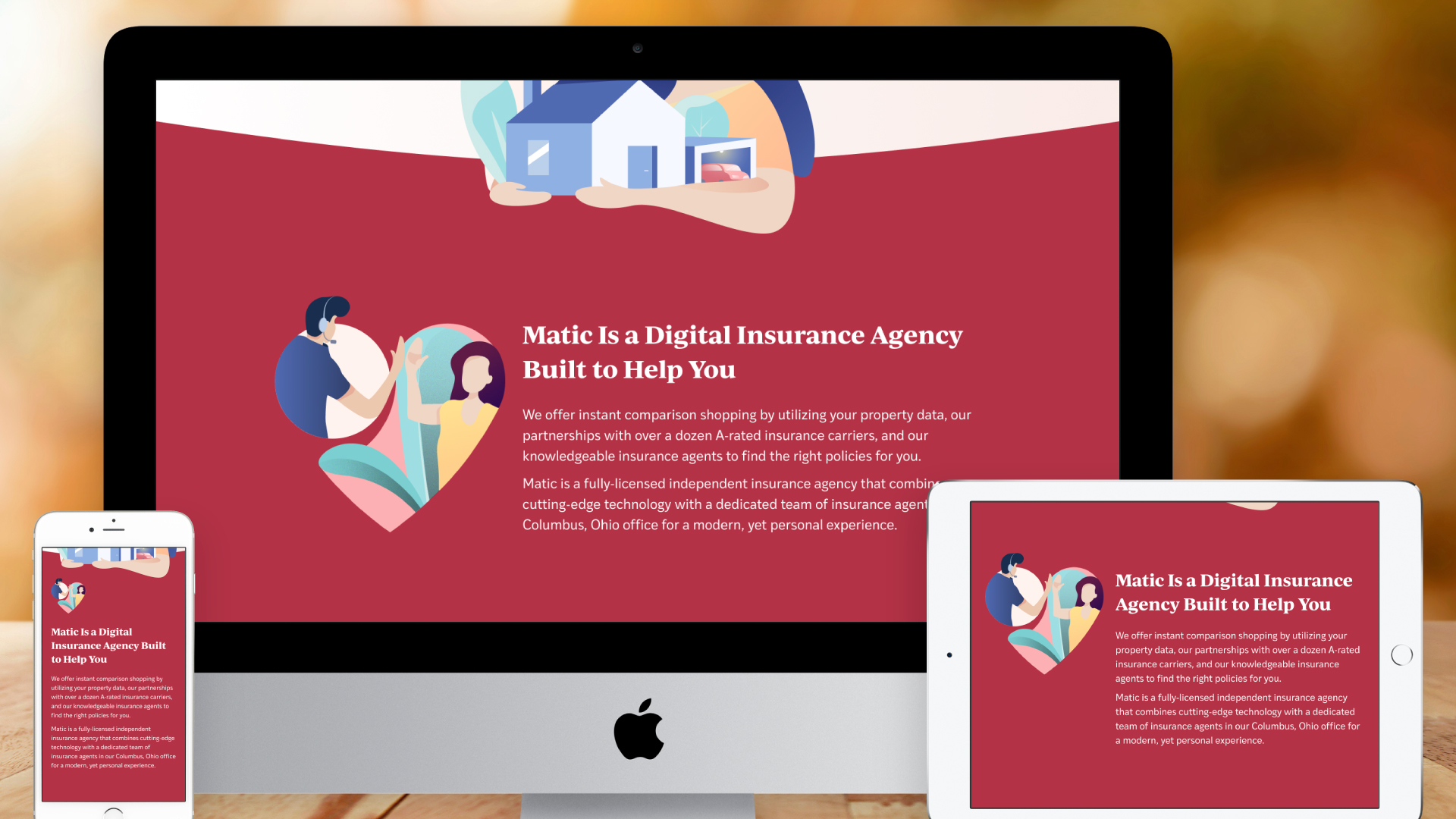 Responsive Website – For Consumers (Introducing Matic)