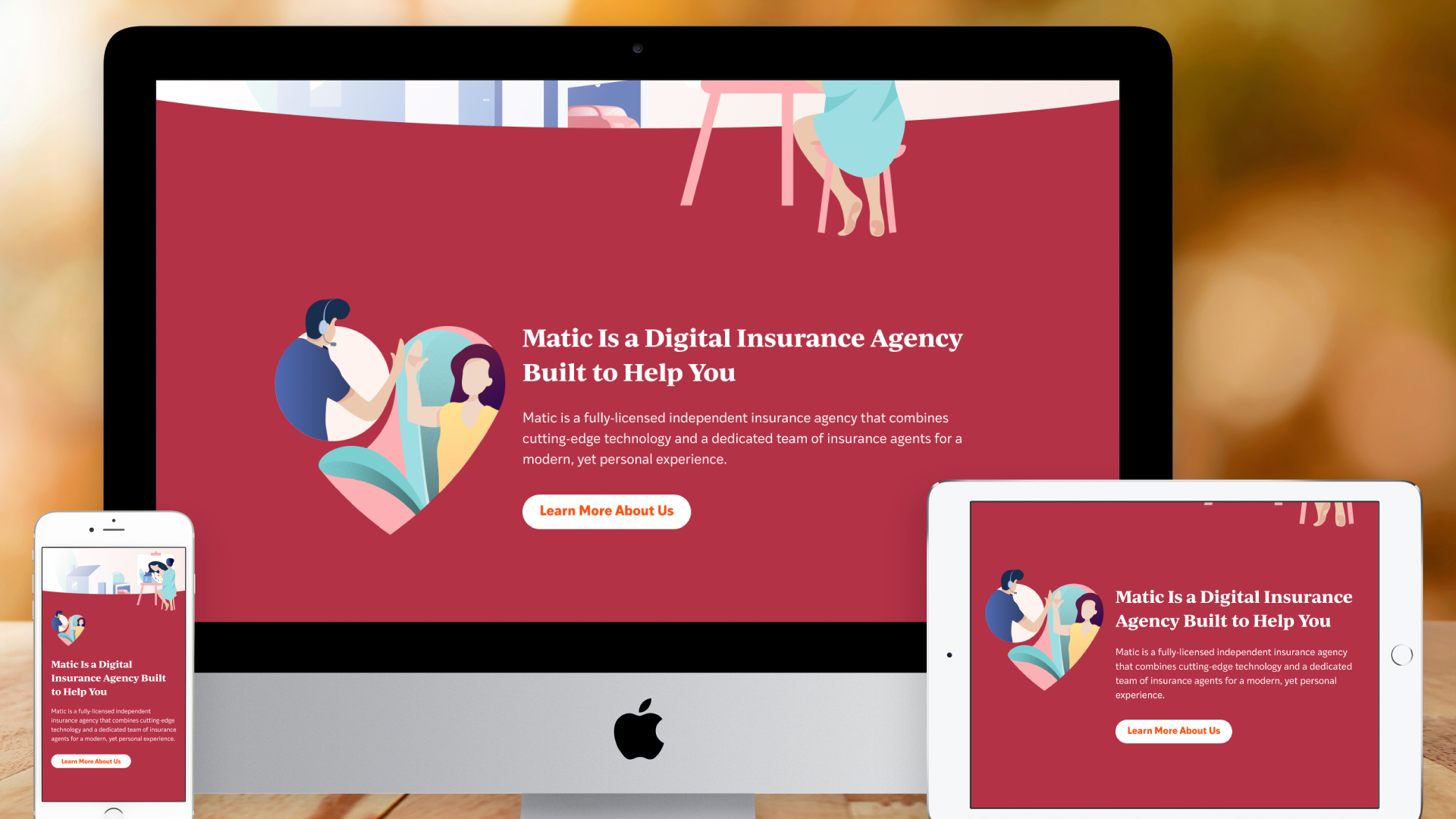 Responsive Website – Homepage (Introducing Matic)