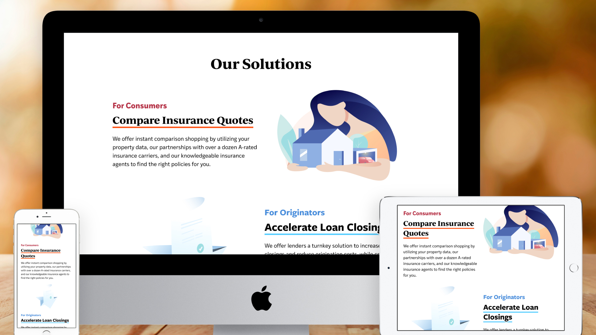 Responsive Website – Homepage (Our Solutions)