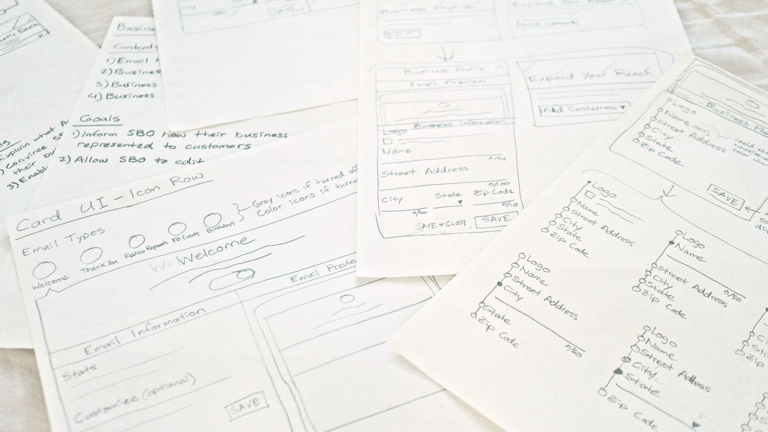 Some of the Many Pencil and Paper UX Sketches