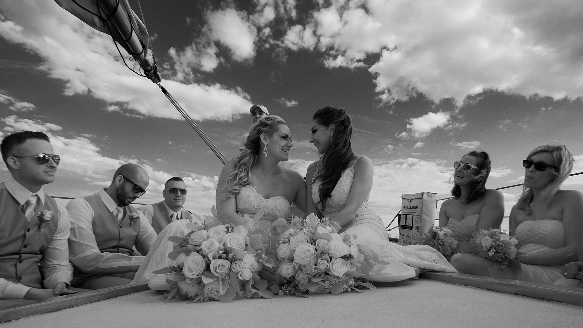 Ceremony on a Sailboat