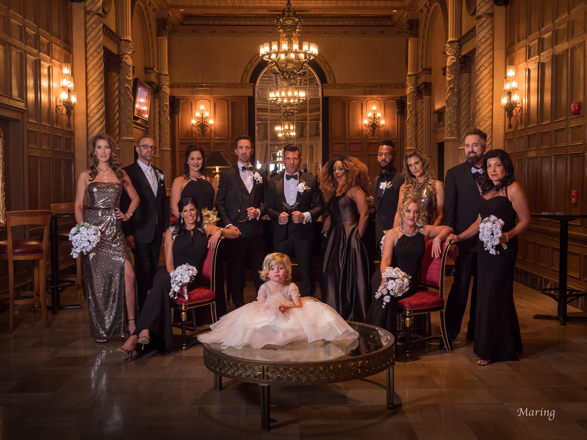 Glamorous Group Posing