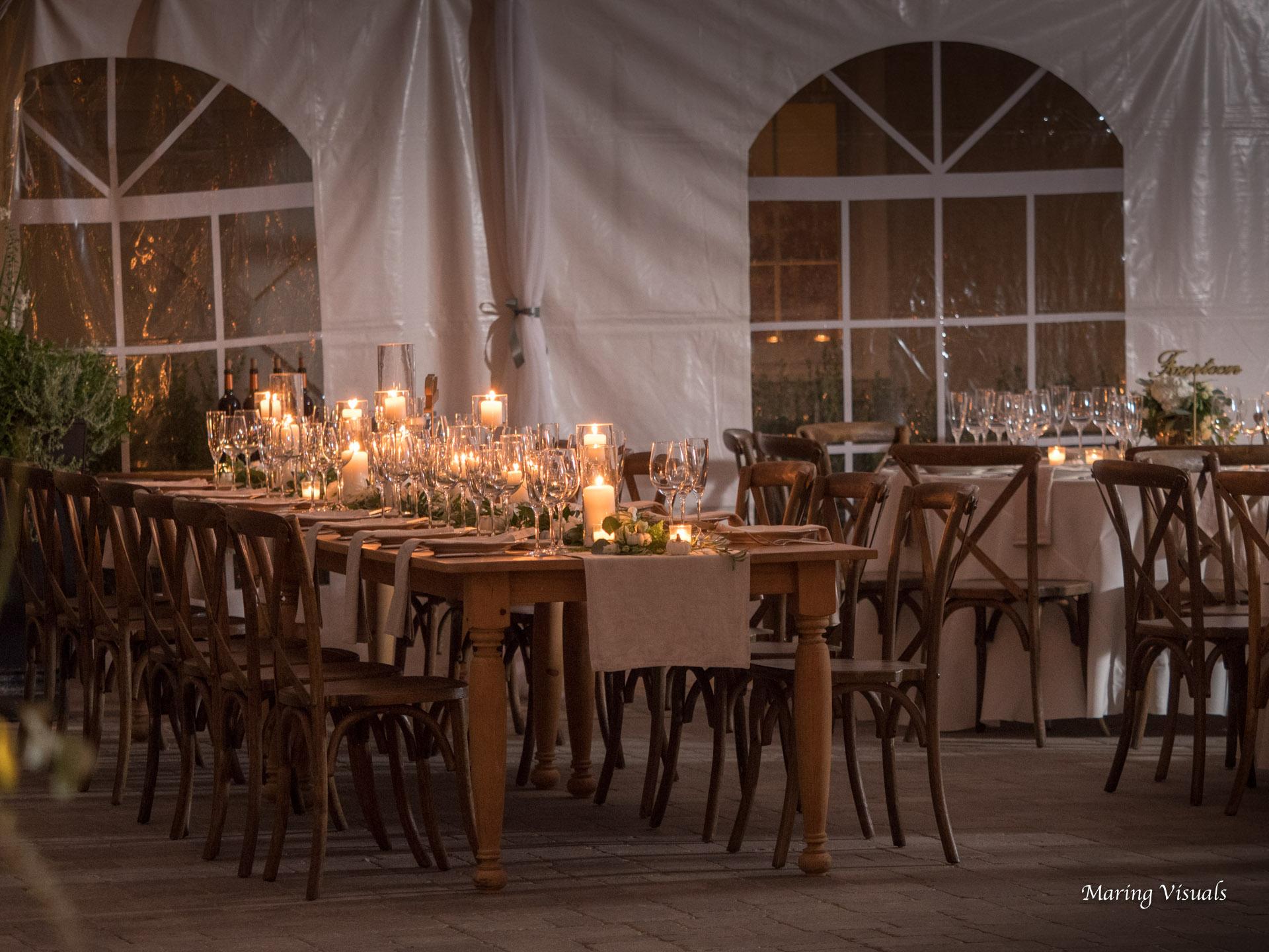 Wedding Reception at Lion Rock Farm