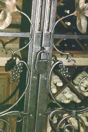 Hand Forged Wine Cellar Door Lock