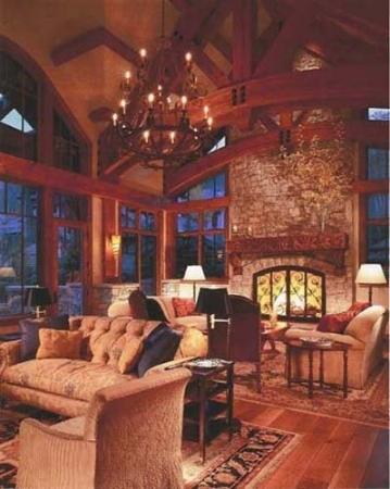 Custom Chandelier and Fireplace Doors