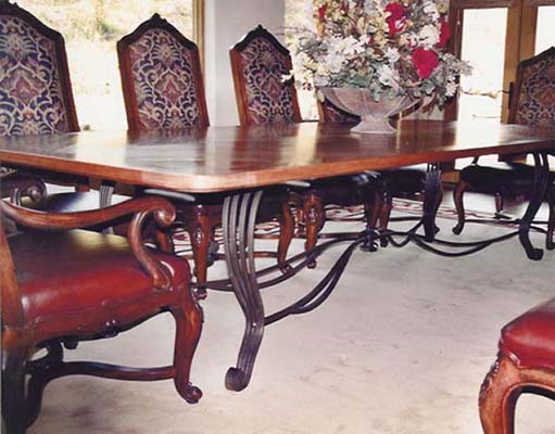 Custom Dining Room Table Base