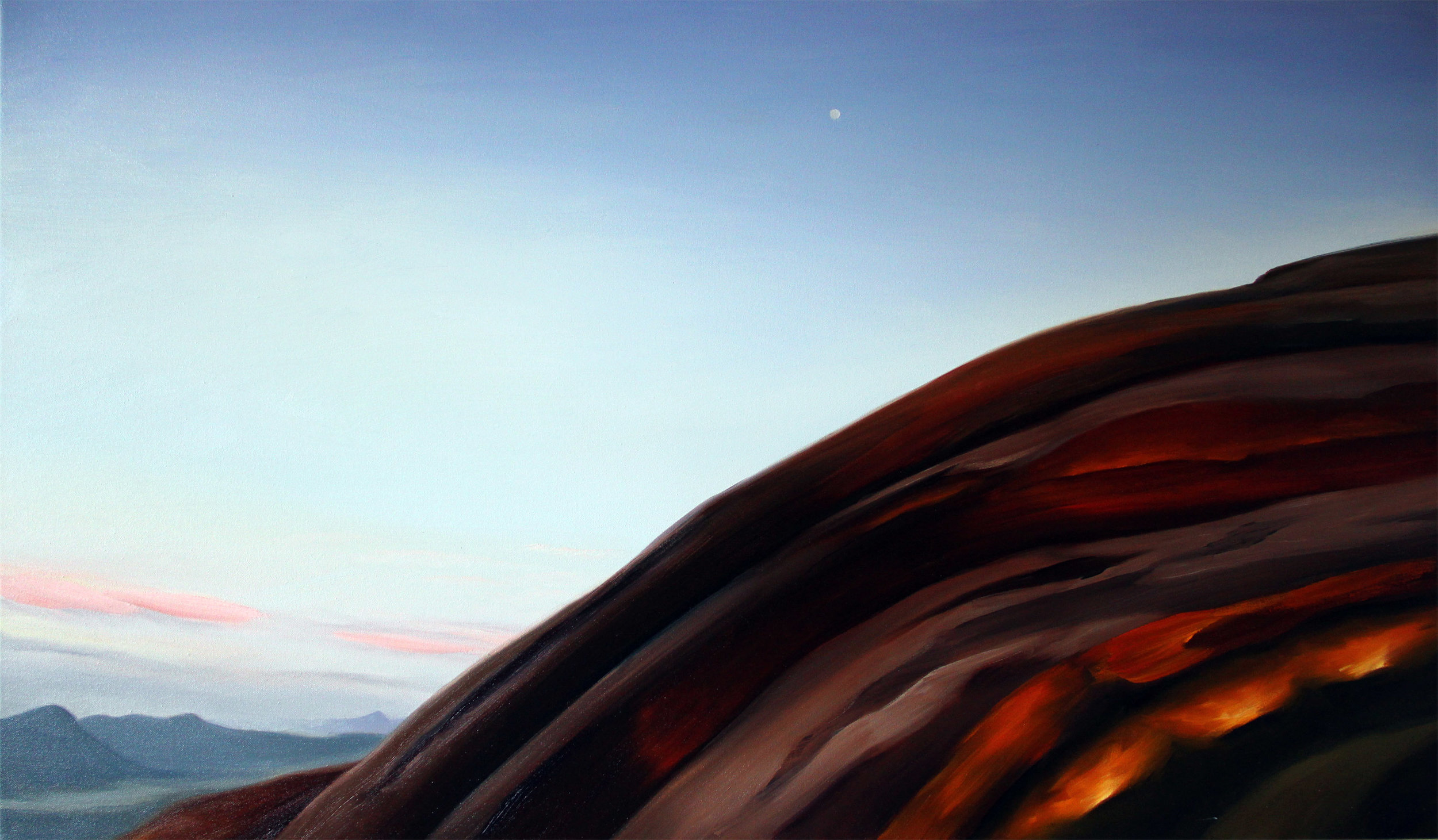 Moon over Red Rock II