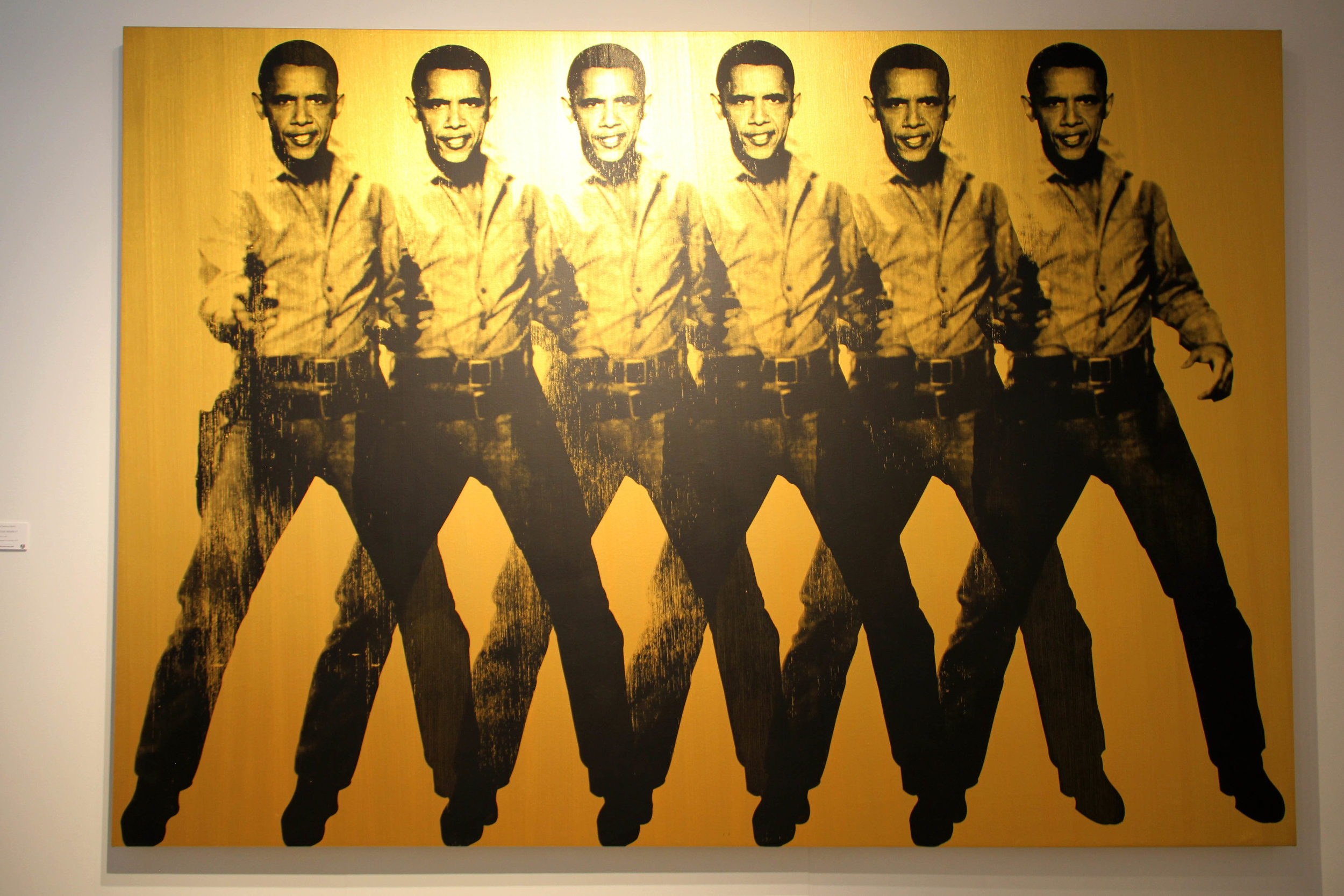 Obama Cowboy (Gold), KNOWLEDGE BENNETT, AVENUE DES ARTS GALLERY @CONTEXT