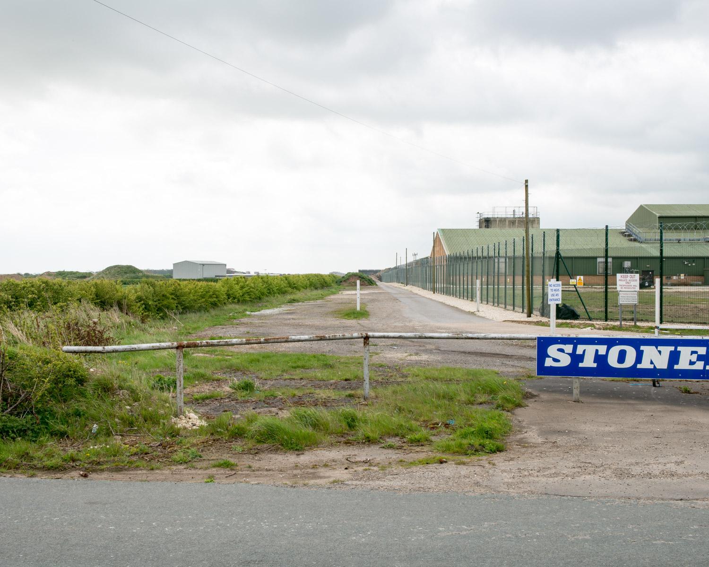 Main Runway 318 Crossing Perimeter Track, Elsham Wolds, Lincolnshire 2015