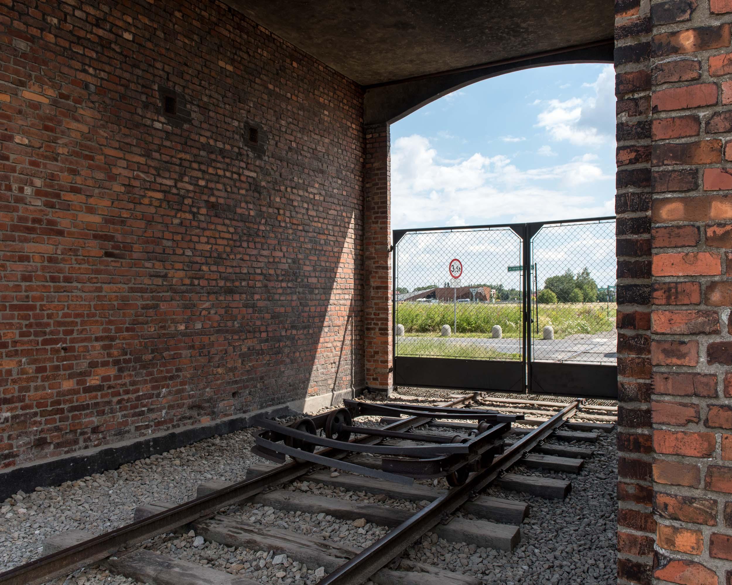 Entrance to Auschwitz-Birkenau II