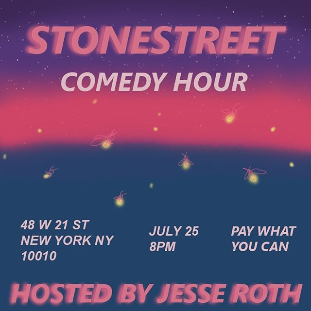 The next Stonestreet Comedy Hour is Thursday July 25 and it is going to be oh so beautiful! Swipe through to see the lineup! Starts at 8, with food and drinks before!