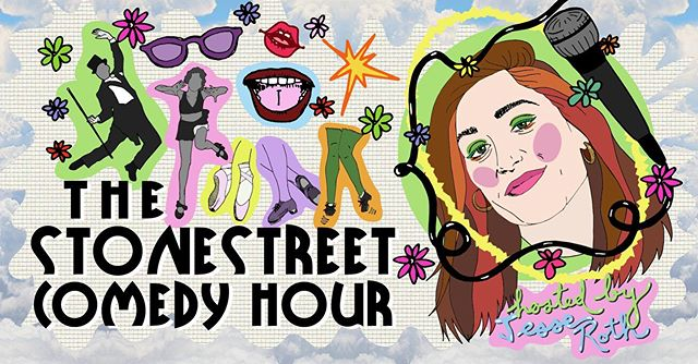 Obsessed with @meganpatsel and her many talents...which include making this new poster for @stonestreetcomedyhour !! Next show is August 29th, lineup coming soon! ✨✨✨