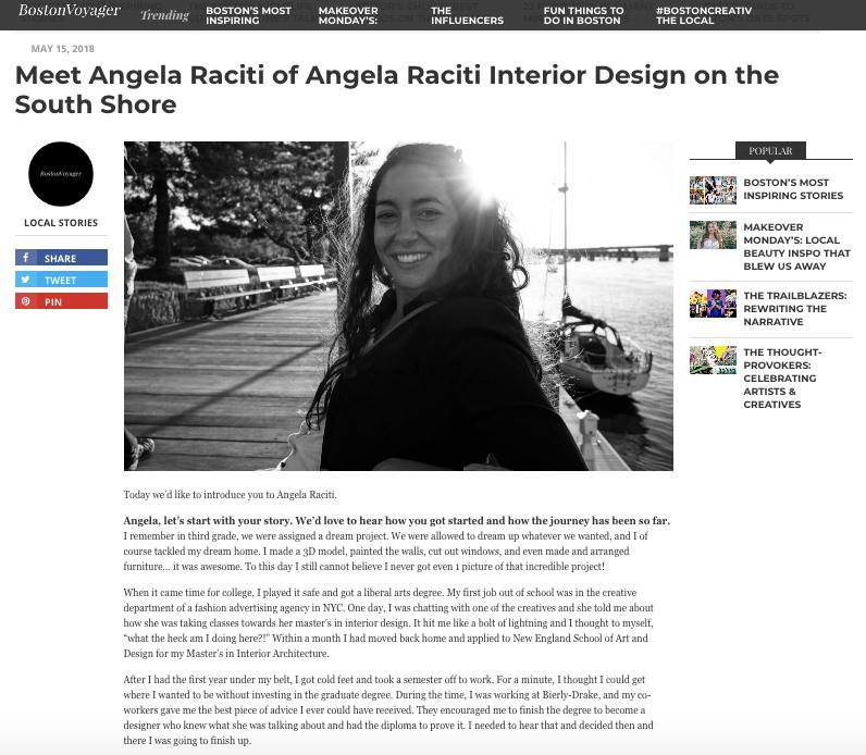 Boston Voyager Angela Raciti
