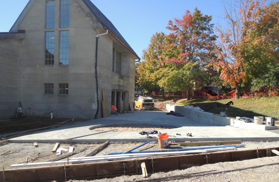 Progress on the new Entry Plaza