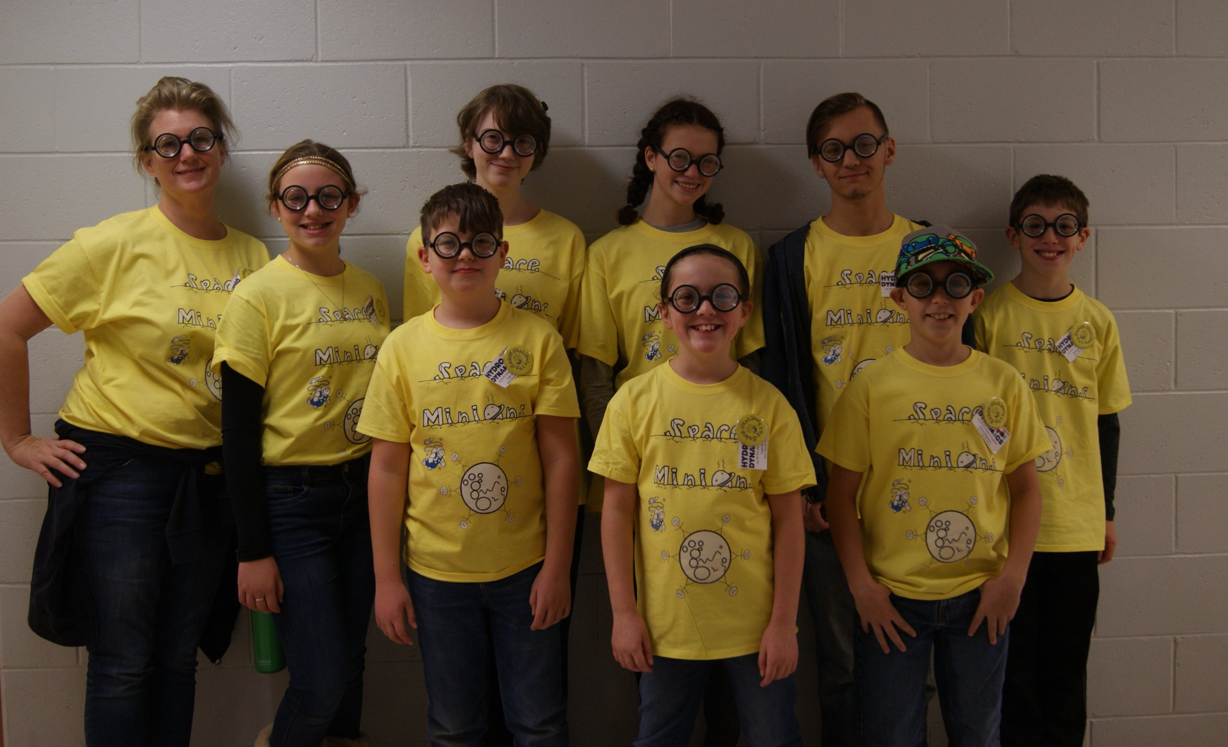 This is one of our FLL teams called  The Space Minions ! Although they did not move of to regionals they sure had a fun time preparing and competing!
