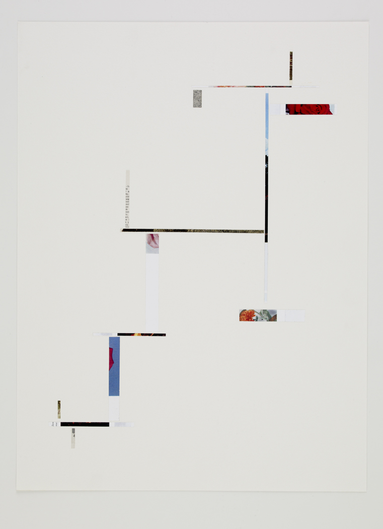 Untitled, 2009, collage on paper, 18 x 24 inches