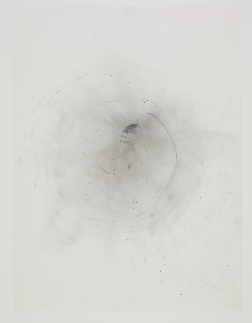 Spinning Top , 2009, pencil on drafting film paper, 18 x 24 inches/ 45,5 x 61 cm