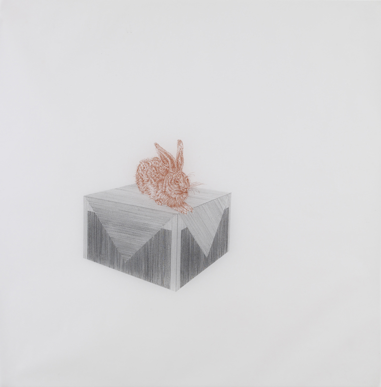Richard Artschwager,  2010, pencil and sanguine on tracing paper, 41 x 41 inches/ 104 x 104 cm