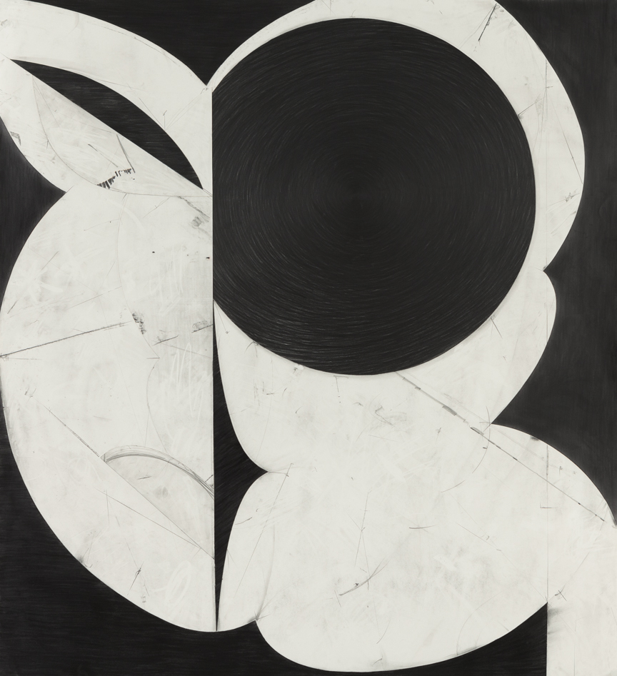 Sticks and Stones # 3 , 2014, graphite on cut and collaged paper, 51 x 47 inches/ 130 x 120 cm