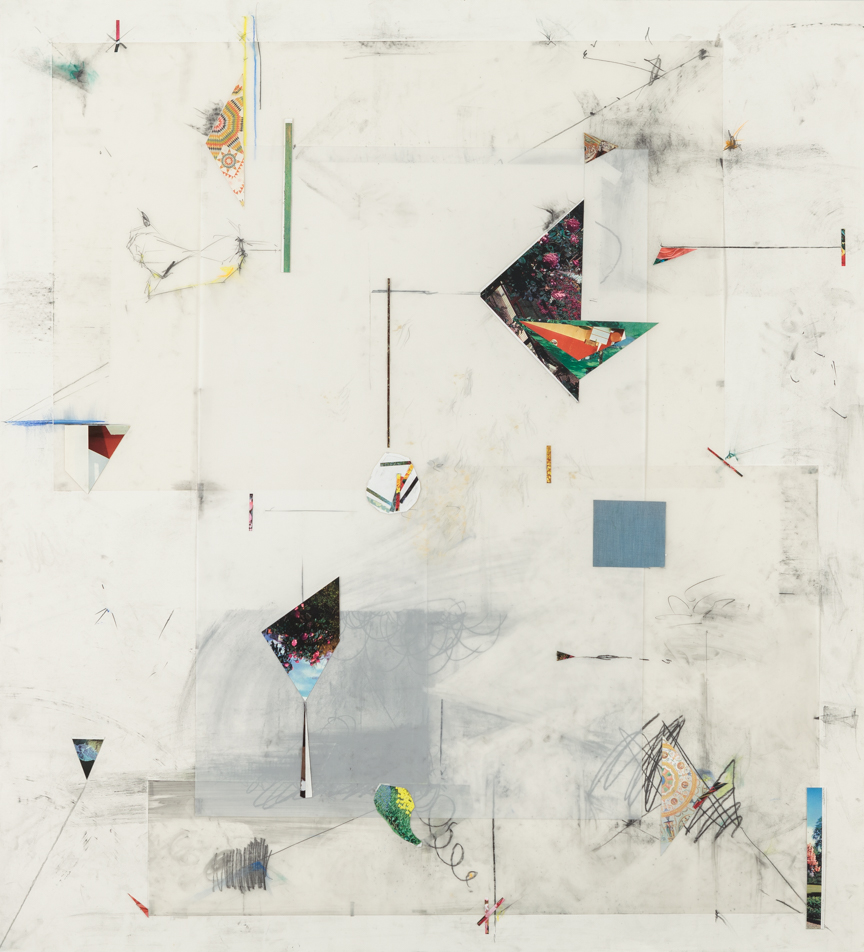 Untitled, 2013, pencil collage, colored pencil and pastels on paper and mylar, 51 x 47 inches/ 130 x 120 cm