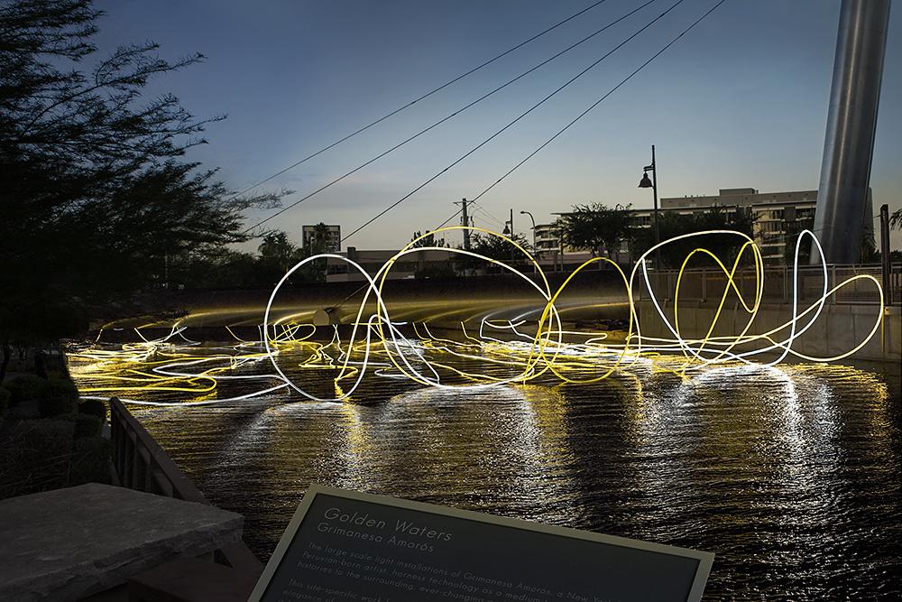 Installation view, Grimanesa Amorós, 'Golden Waters',Scottsdale, AZ, 2015