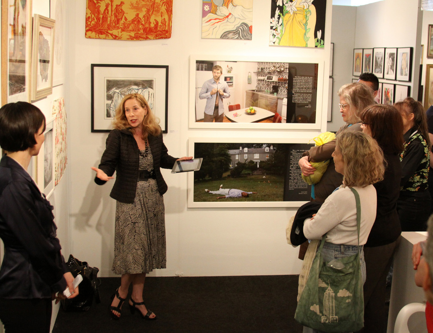 Art W founder Marjorie Martay leads Art x Women tour at the Affordable Art Fair