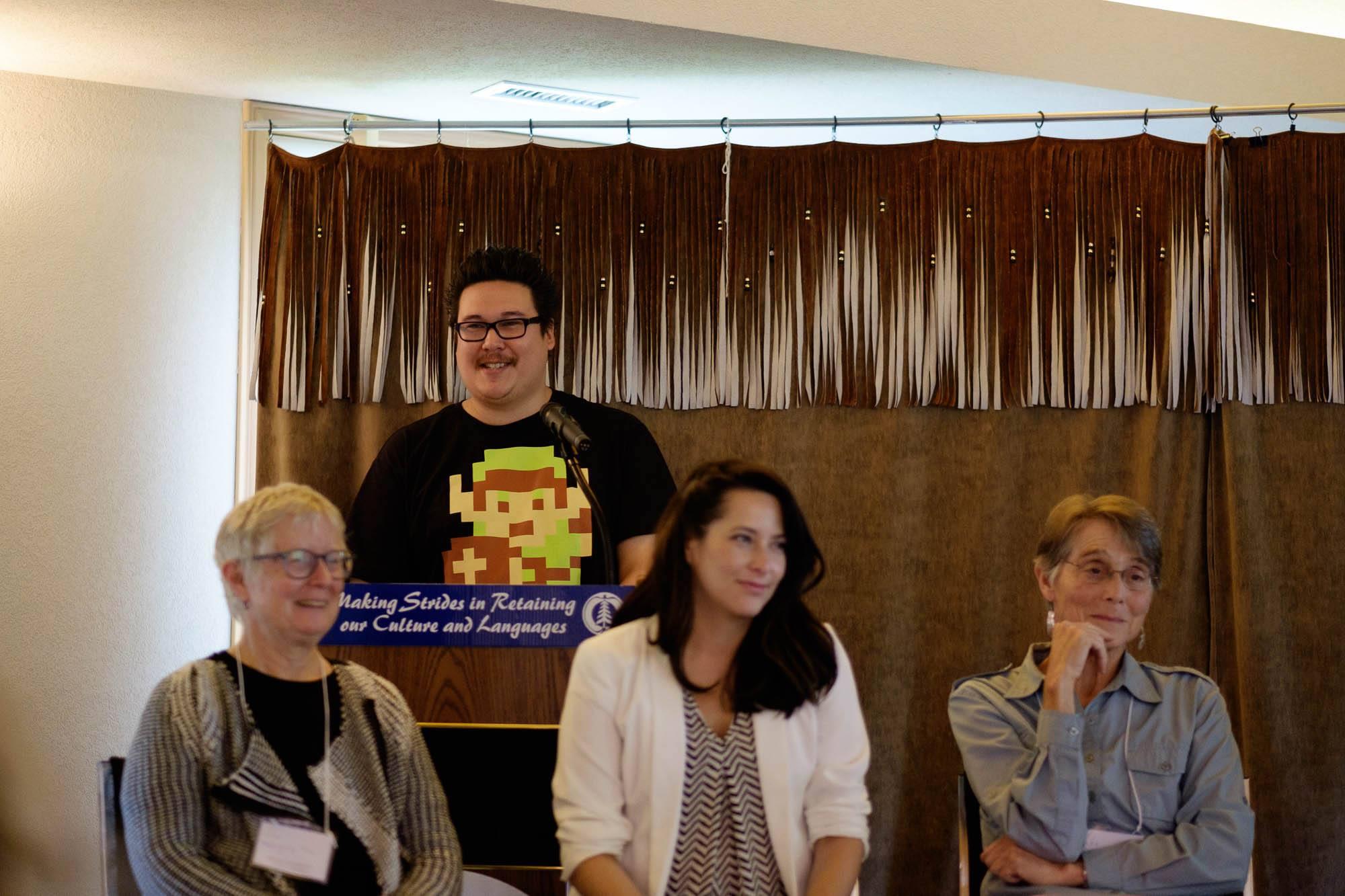 SFU and ubc scholars: jordan abel, margery fee, dory nason, and carole gerson