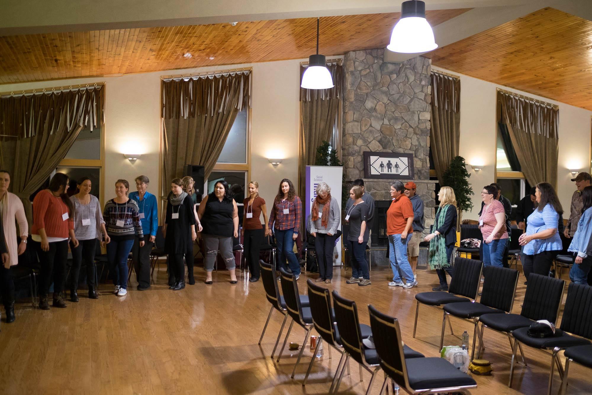 Embodying community during the Iroquoian Social     photo: warren cariou