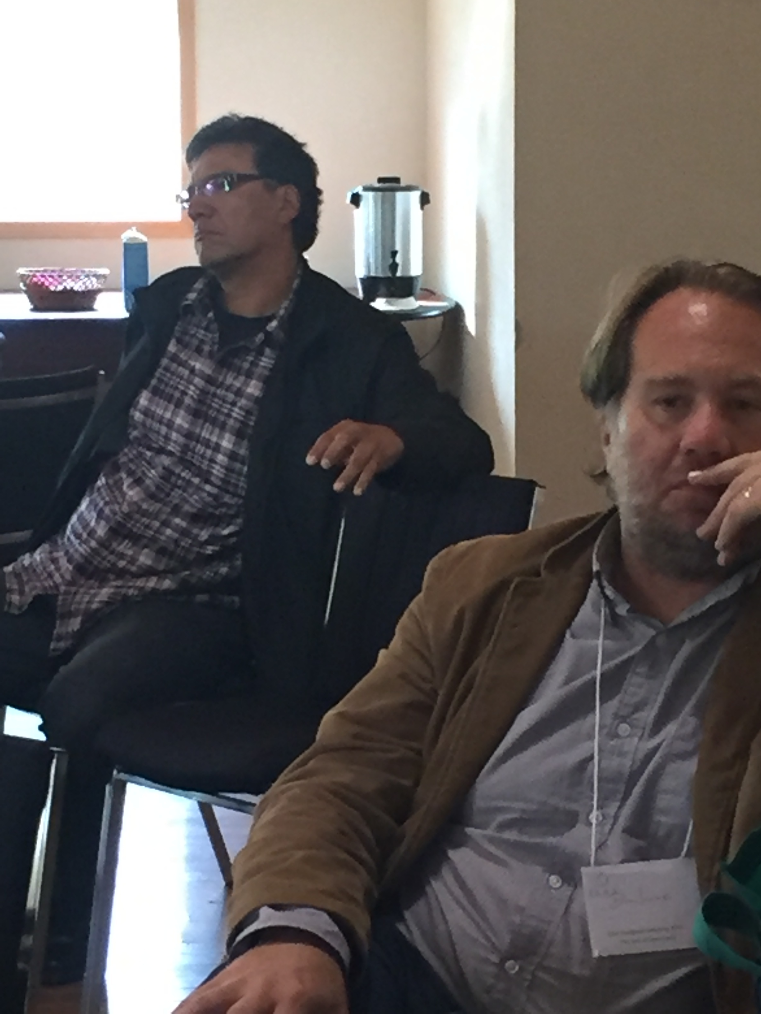 Rick monture and dean irvine, reflecting