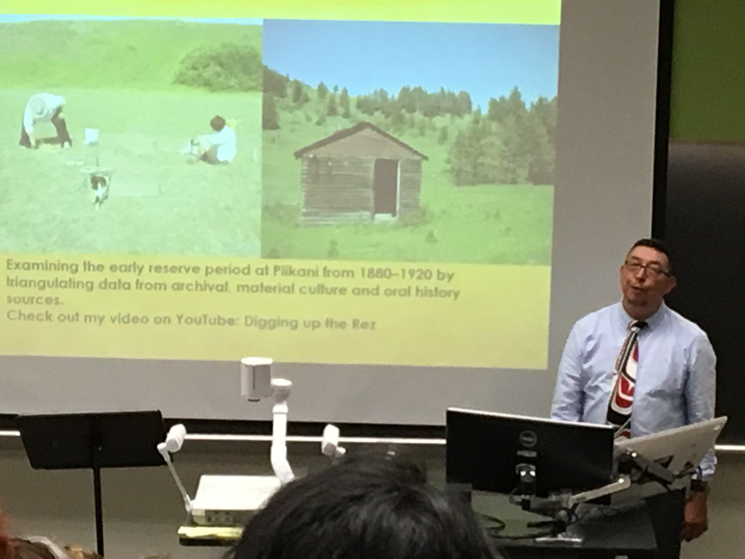 Eldon Yellowhorn delivers an engaging keynote talk on blackfoot oral narratives and the archaeological record of the northern plains