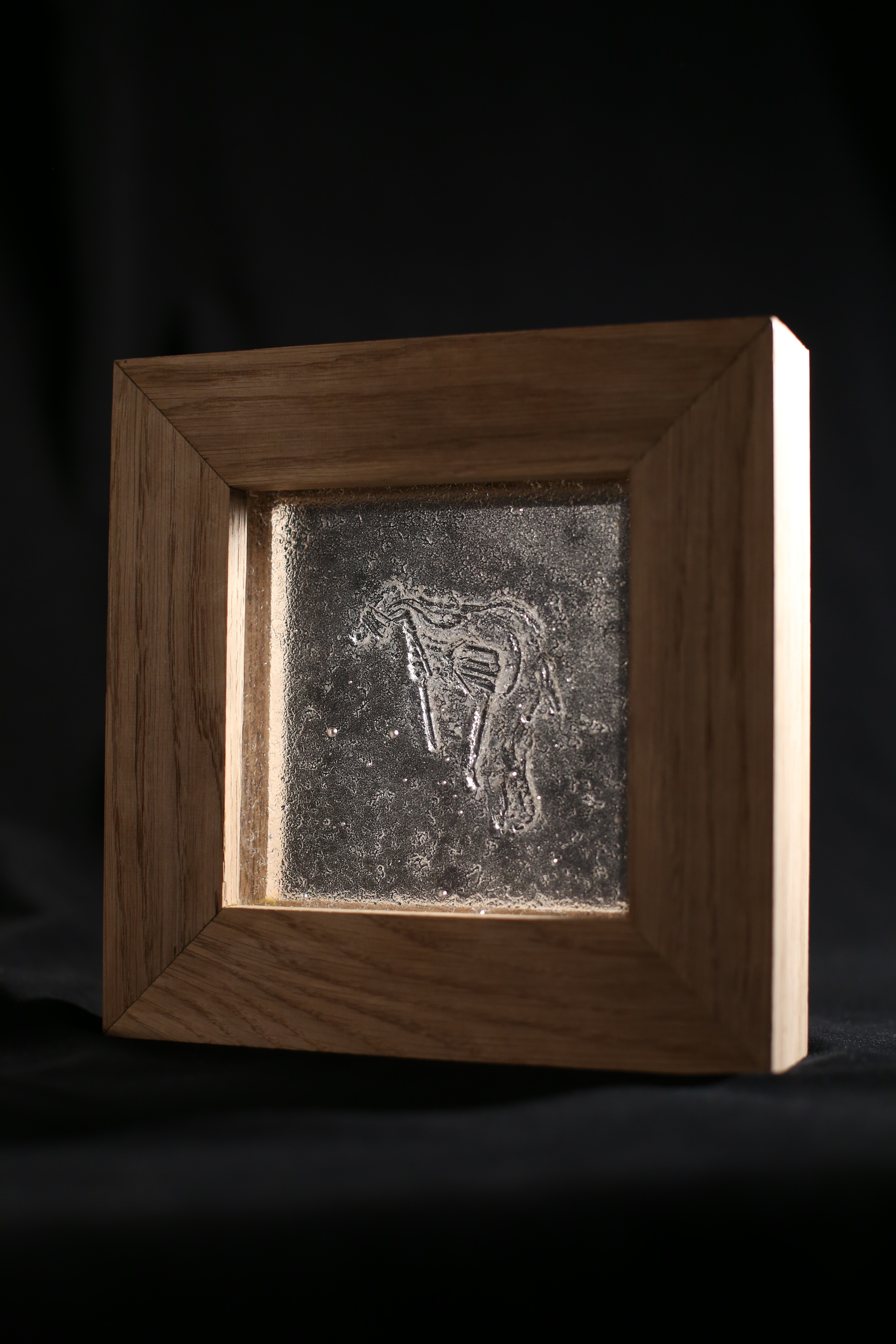 Preservation 2014 Cast glass and wood 8.5 x 3 x 8.5 in 22 x 7.5 x 22 cm