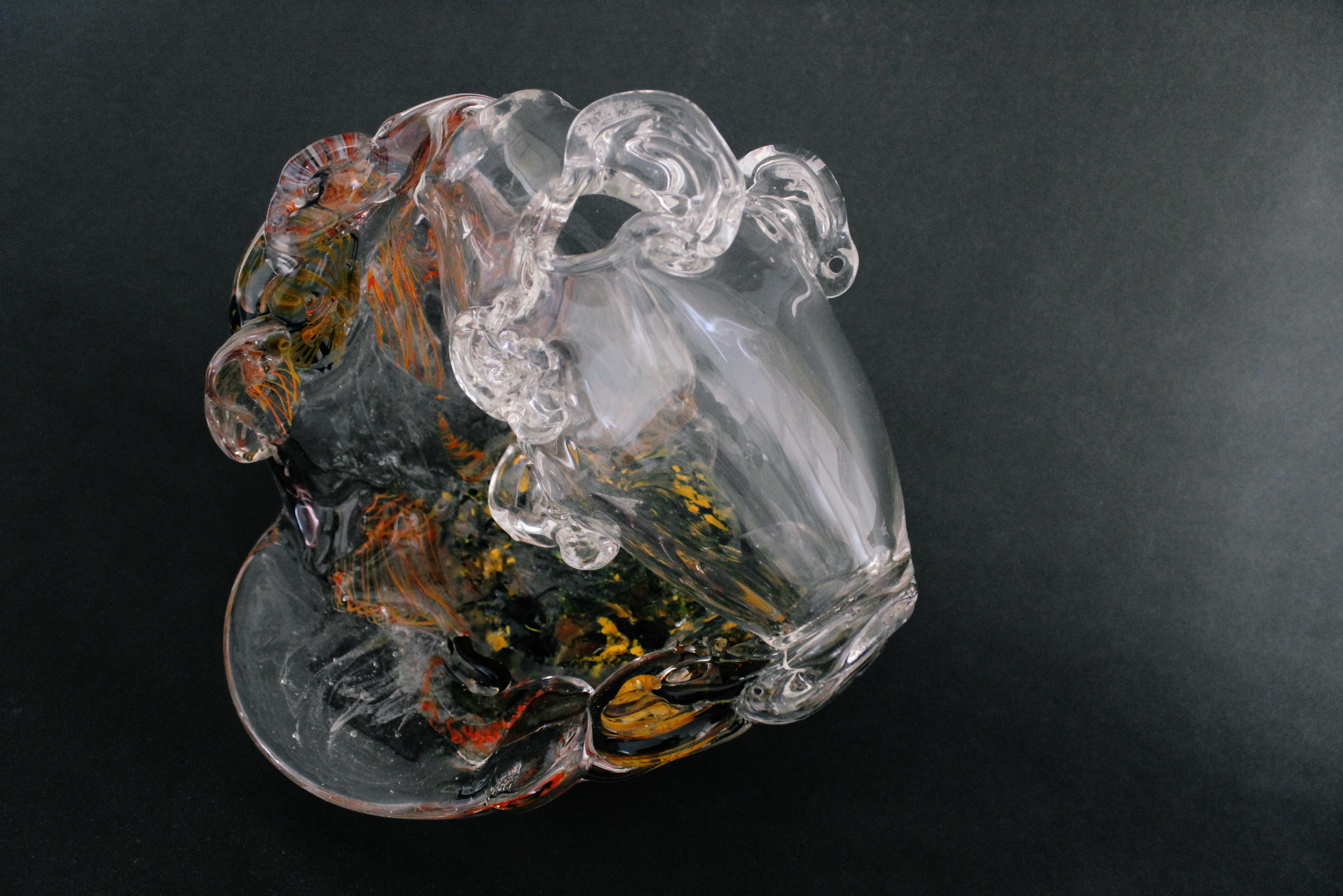 All Ears ✤ 2016 ✤ Blown and Hot Cast Glass with Reclaimed Components ✤ 10 x 12 x 9 in 25.5 x 30.5 x 23 cm This pieces highlights listening as an introspective ways of digesting different situations and realities.