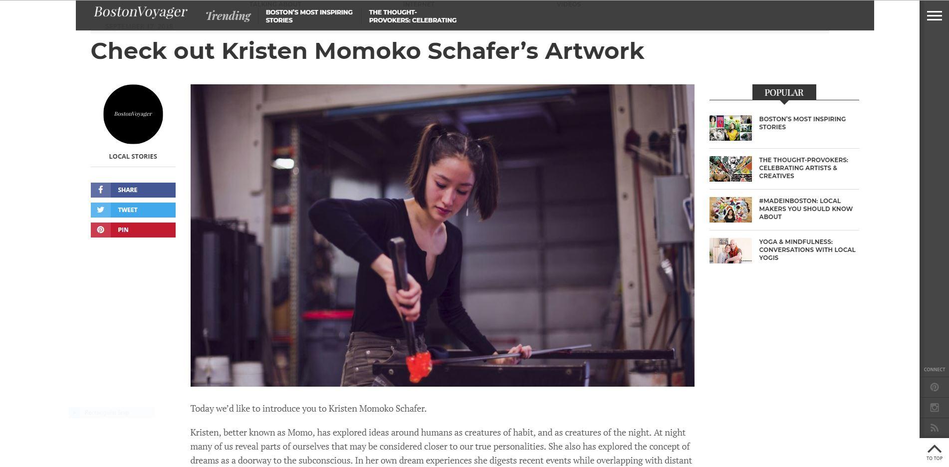 Boston Voyager   Sept 17th 2018 - Check out Kristen Momoko Schafer's Artwork
