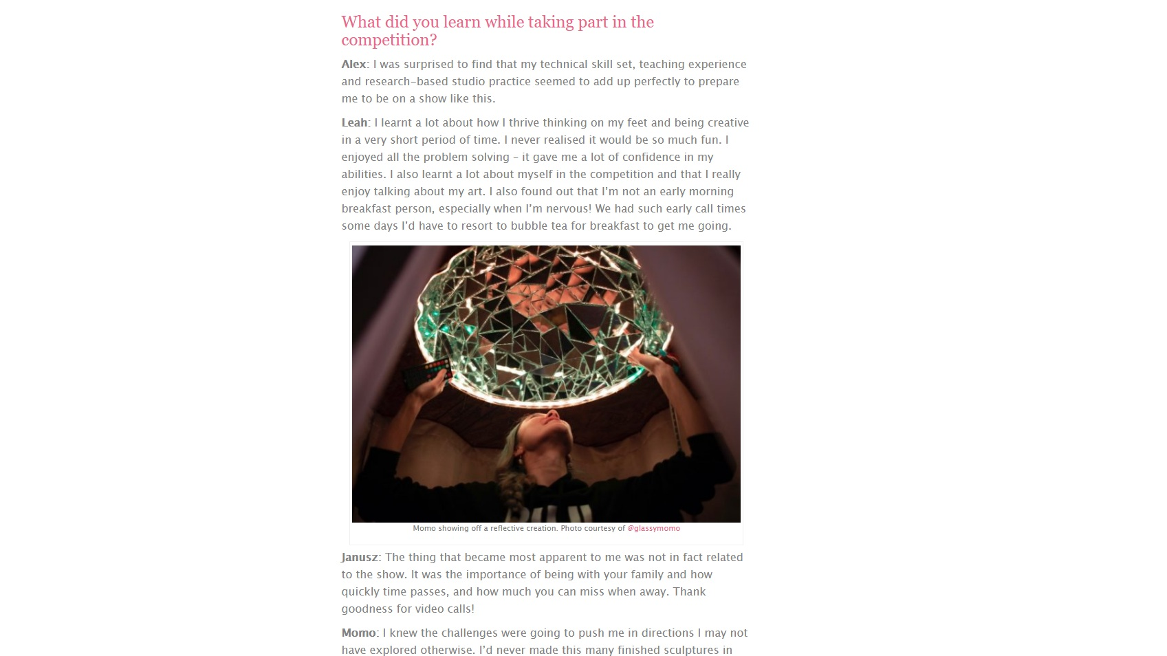Mollie Makes meets Netflix's Blown Away glass artists   Sept 11th 2019 - The stars of Netflix's Blown Away, our new favourite craft-off show, tell us all about what went on behind the scenes…