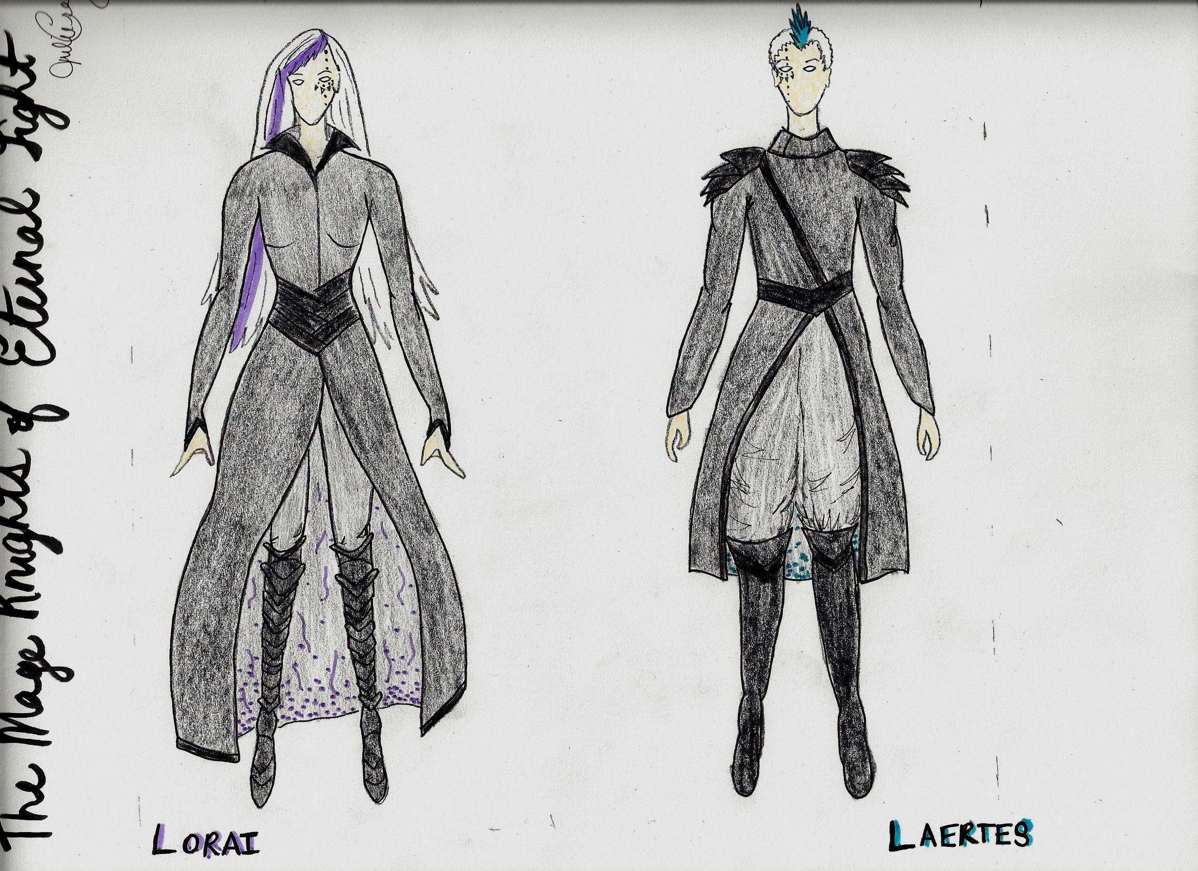 """Final Rendering - """"Lorai"""" and """"Laertes"""""""