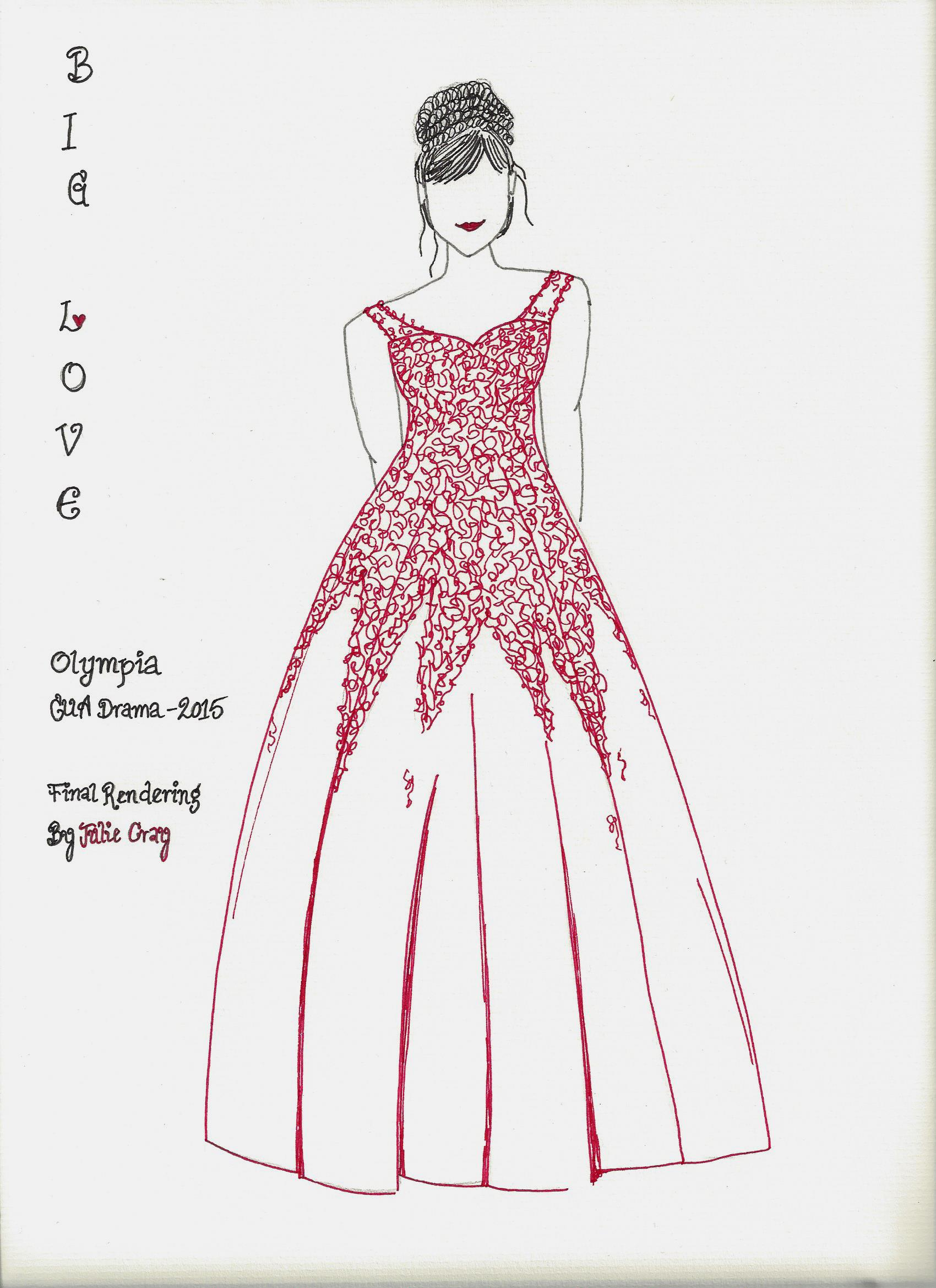 Olympia Final Costume Rendering - Front