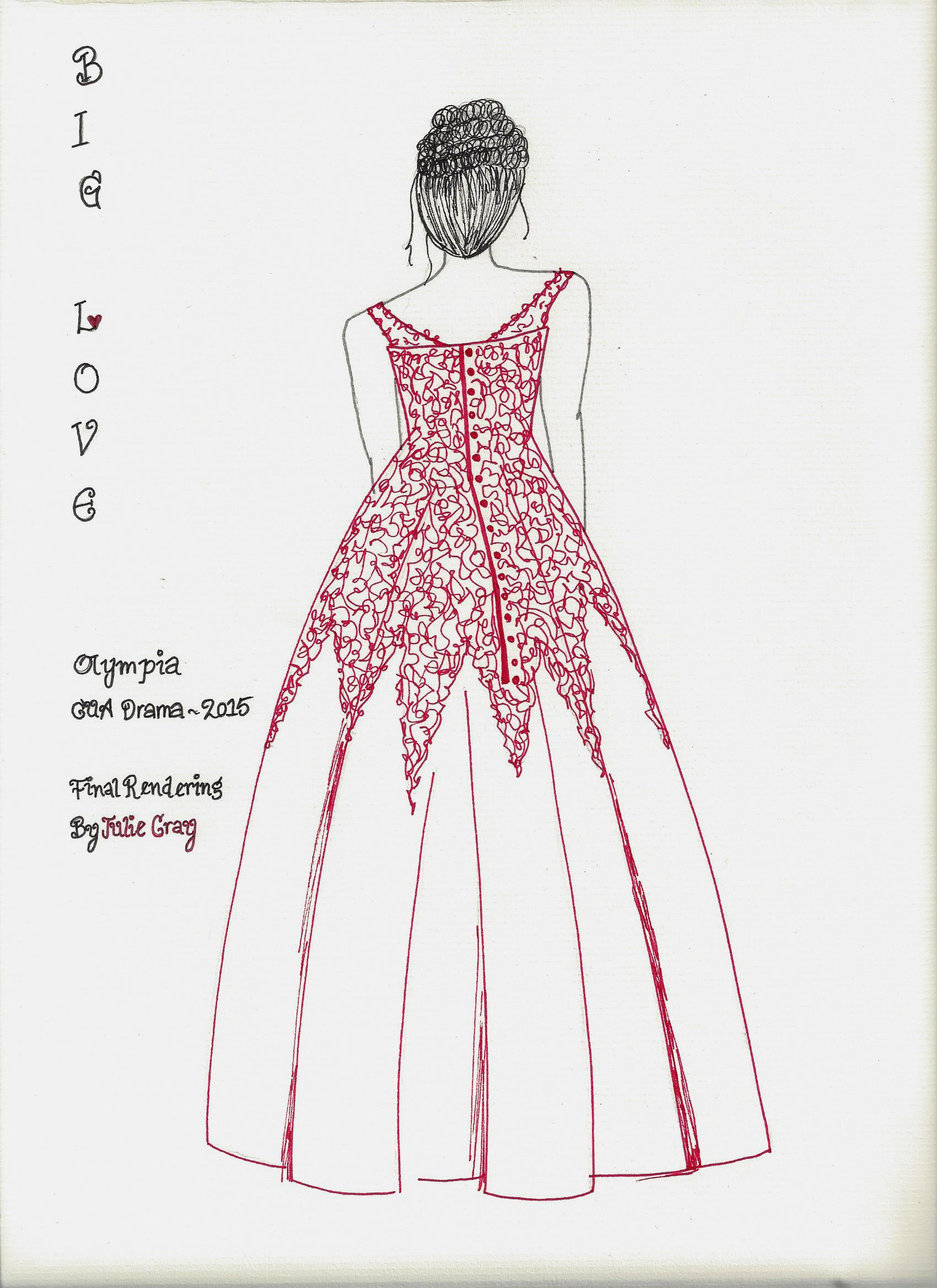 Olympia Final Costume Rendering - Back