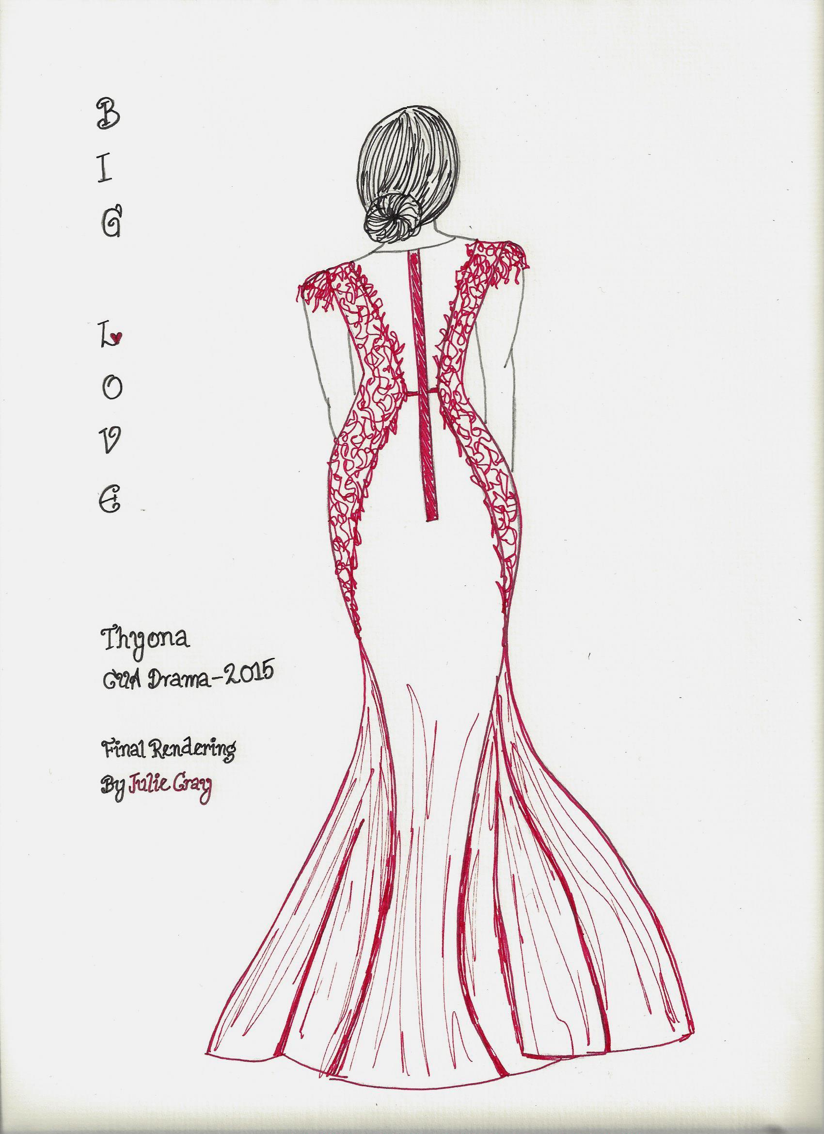 Thyona Final Costume Rendering - Back