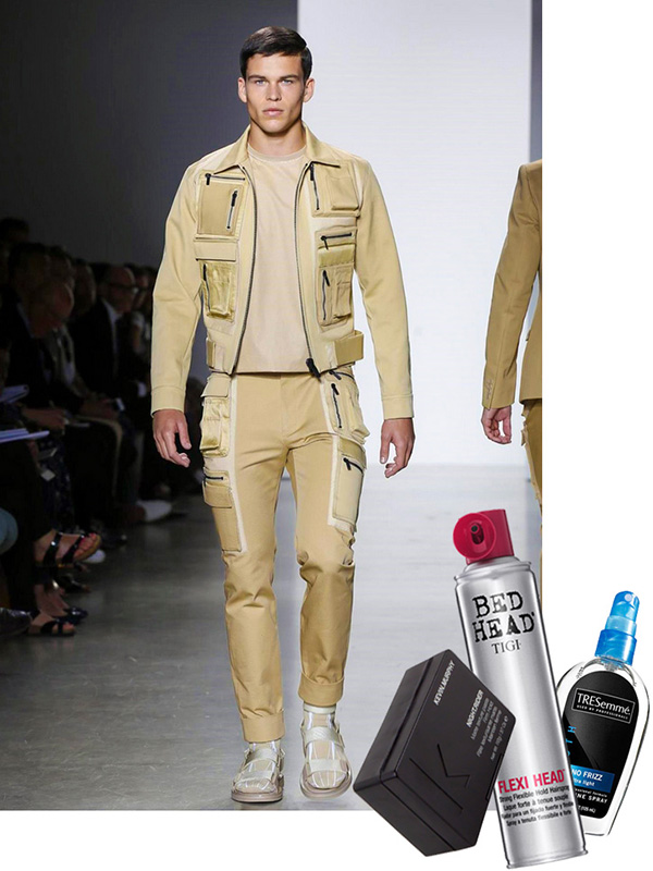 men's fashion week milan, kevin murphy night.rider, bed head flexi head, tresemme hair care no frizz