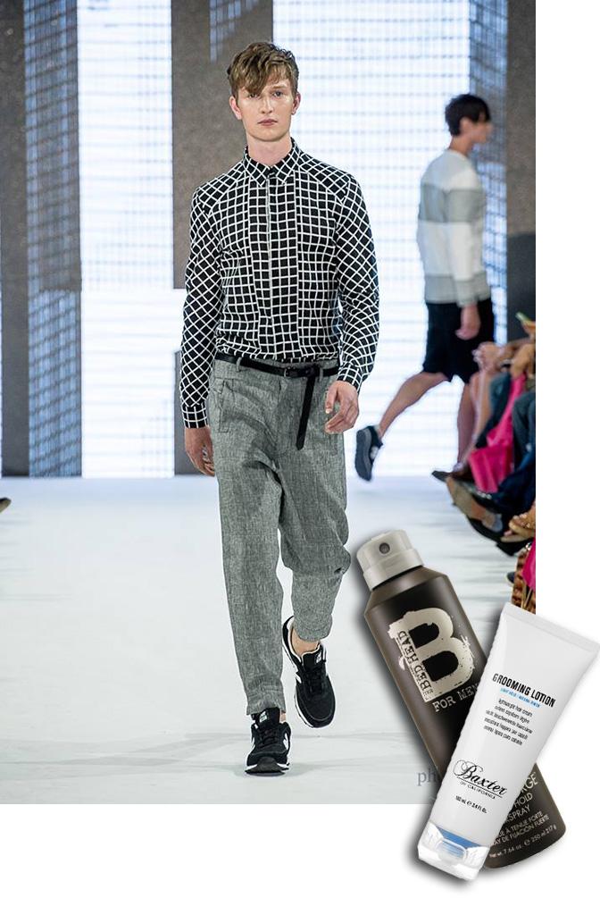 bedhead hairspray, hairspray for men, baxter of california, philippe dubuc, tom fashion week, tom toronto men's fashion week, toronto fashion week, fashion week, runway