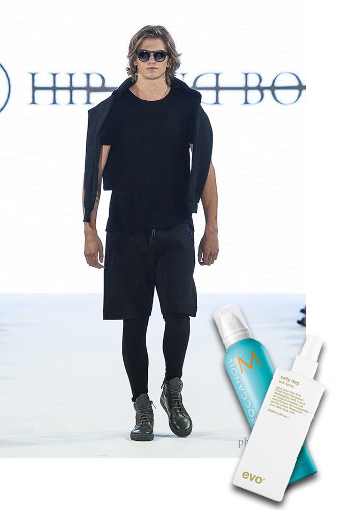 hip and bone, morrocan oil, salty dog salt spray, evo, tom fashion week, tom toronto men's fashion week, toronto fashion week, fashion week, runway