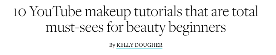 10 YouTube makeup tutorials that are total must-sees for beauty beginners