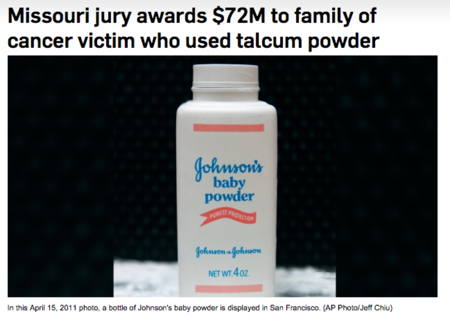 johnson and johnson sued