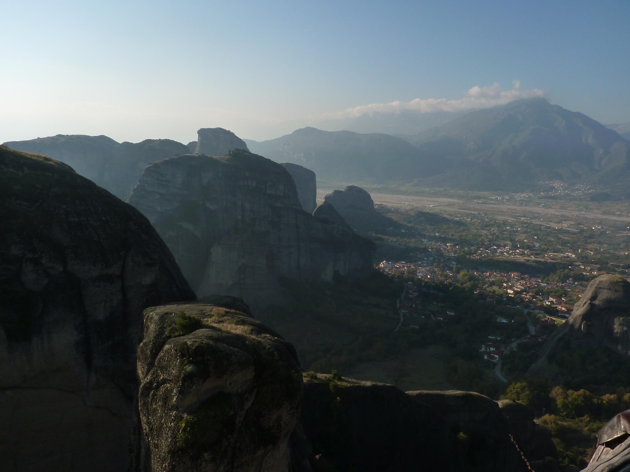 Kastraki village below in the great Thessaly plain