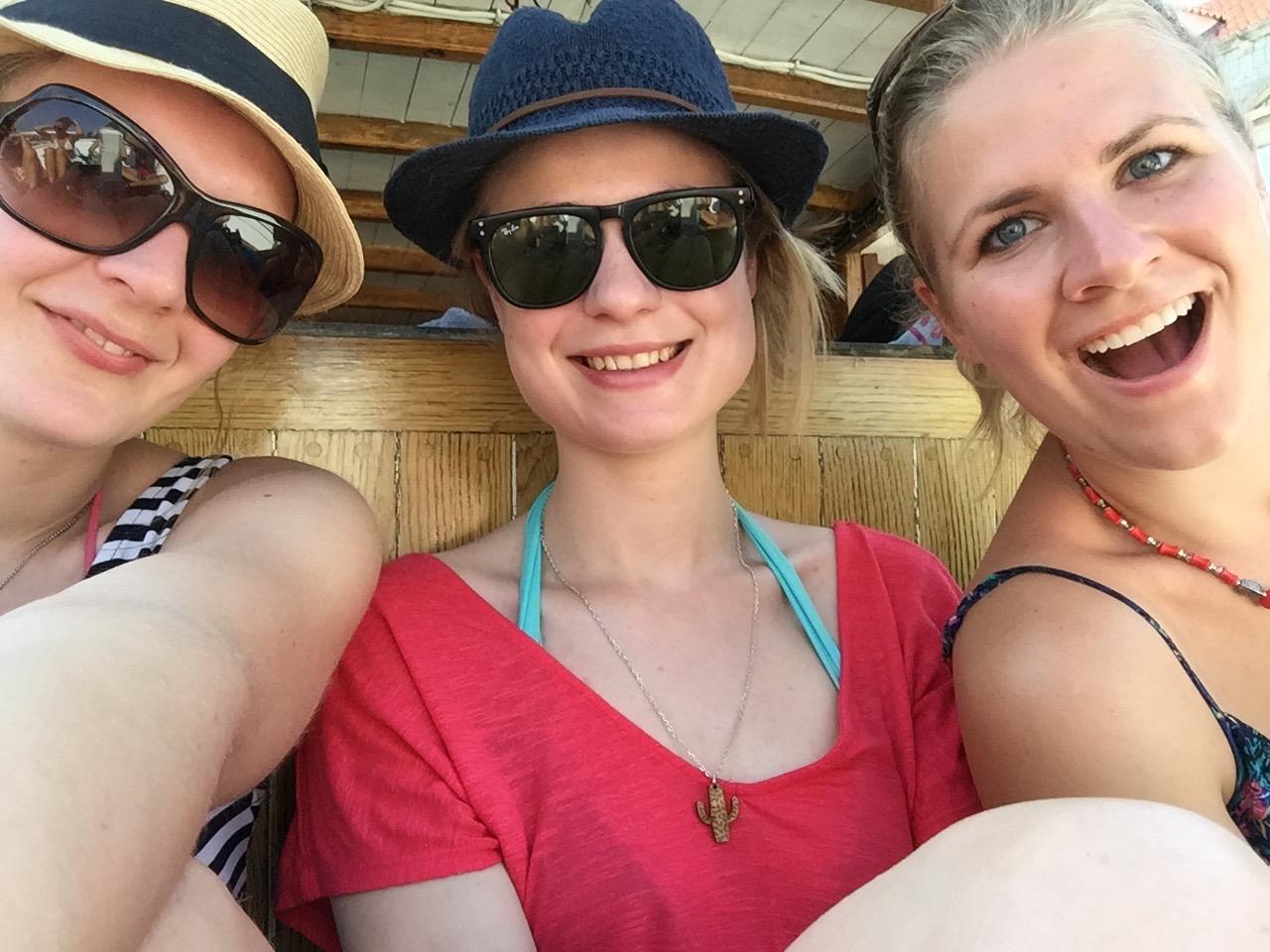 Pre-sail selfie, pre-tan and pre-sun burn