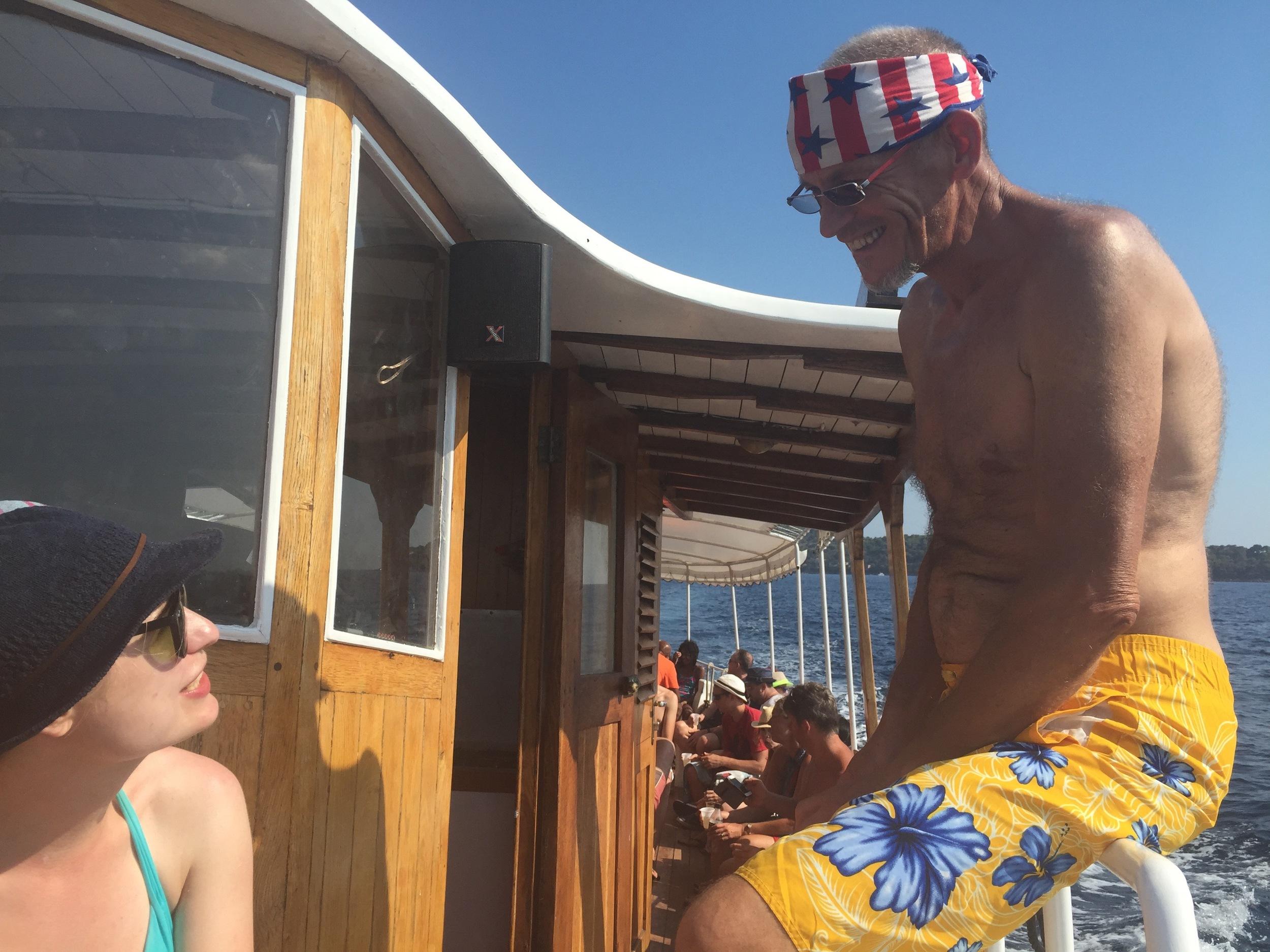 Lena charming our captain Tony