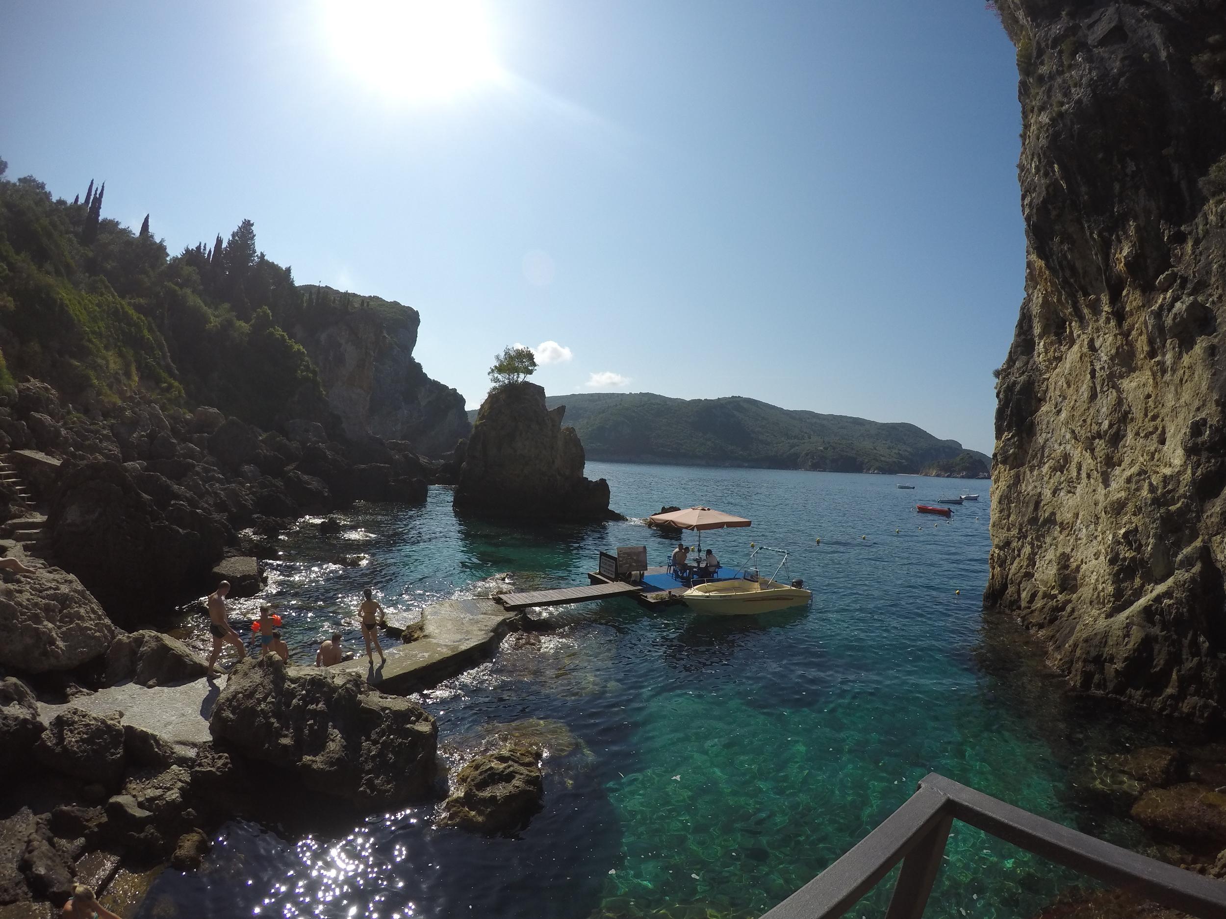 La Grotta bar, Paleokastritsa