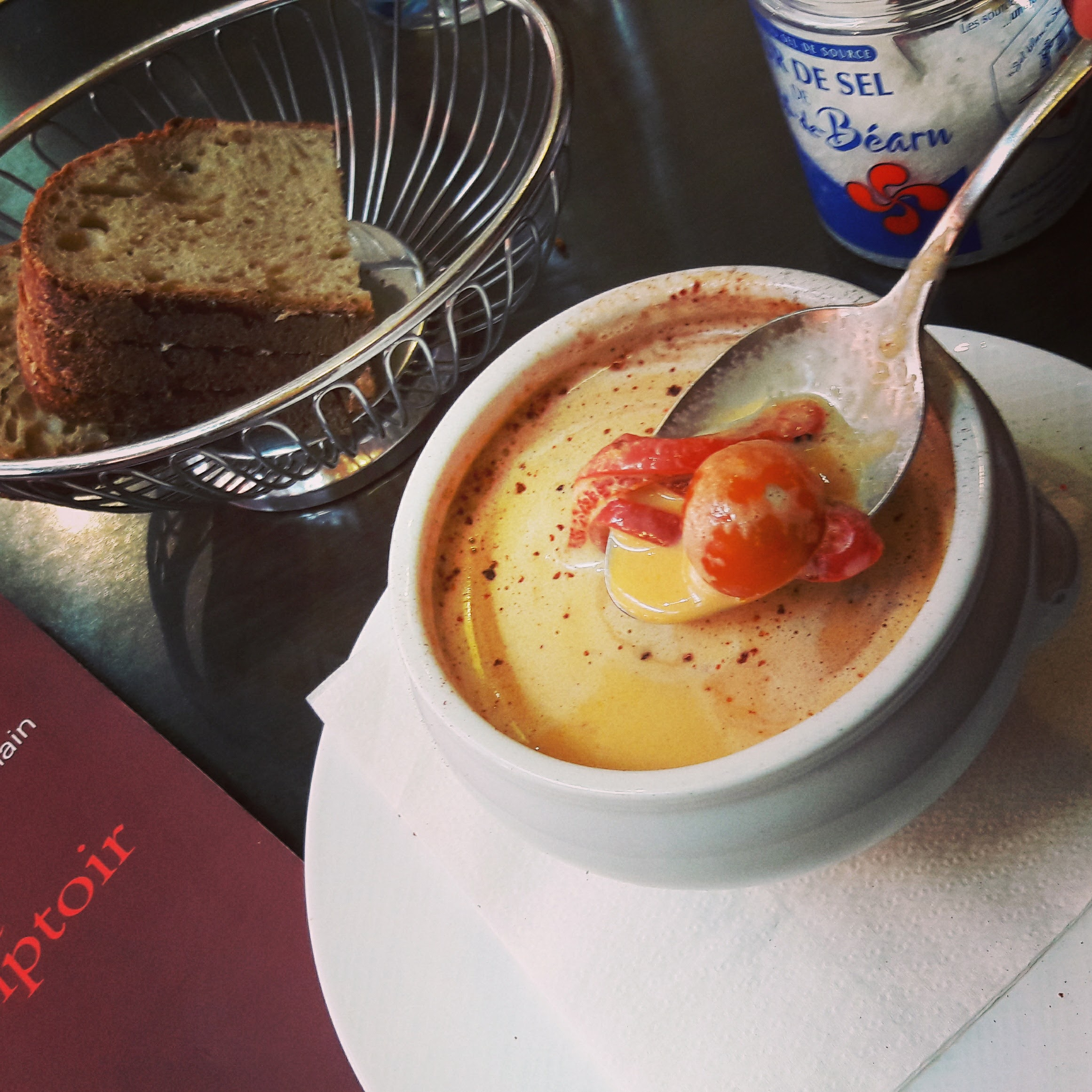 Nearly fell off my chair. Best lobster bisque I've ever tasted. A moment to remember and cherish.